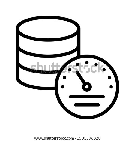 Big Data Storage Time Interval Performance Capacity Vector Icon