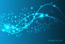 Big Data Visualization Background. Modern futuristic virtual abstract background. Science network pattern, connecting lines and dots. Global network connection .