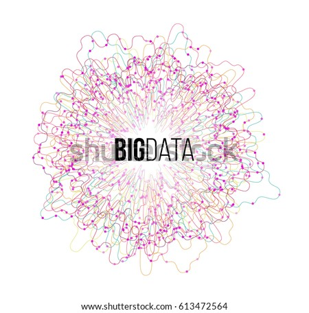 Big Data Visualization. Futuristic Science/Finance Infographic Design. Complex Visual Data Background. Abstract Data Graph. Vector Illustration.