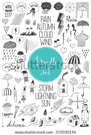 big doodle set   autumn