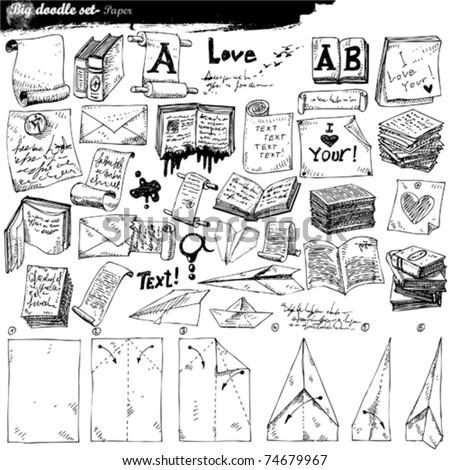 big doodle set - paper
