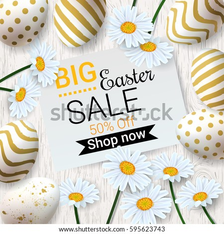 big easter sale background with
