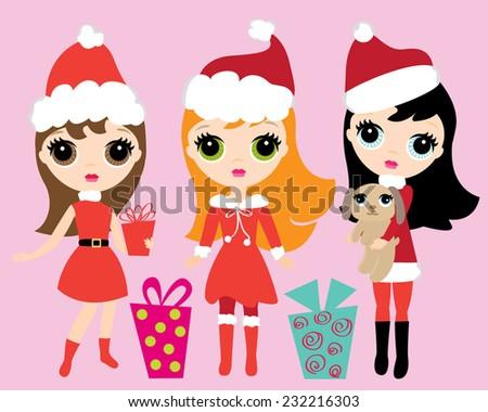 big eyed doll girls in