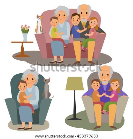 big family set happy family