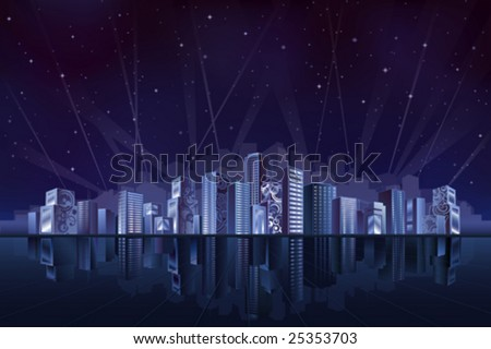 Big fantastic city at night (other landscapes are in my gallery)