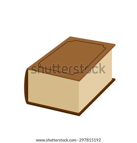 Big fat old book on a white background. Vector illustration  ストックフォト ©