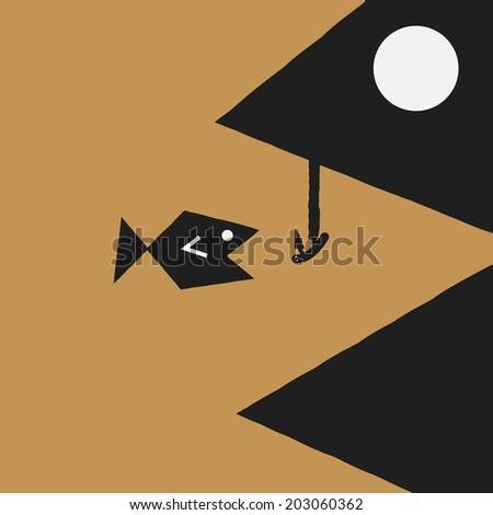 big fish with bait