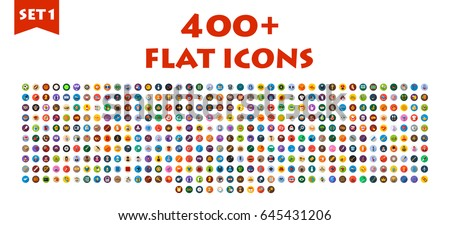 free flat icon set 04 vector download free vector art stock