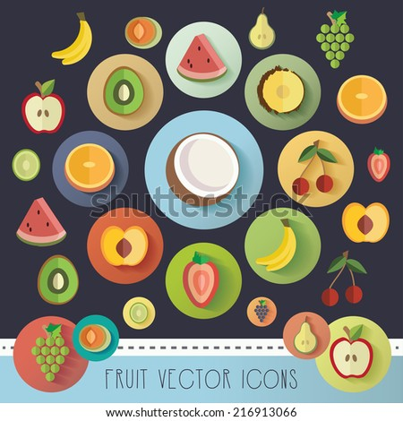 big fruit icon vector