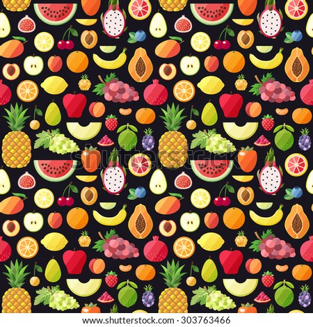 big fruits seamless vector