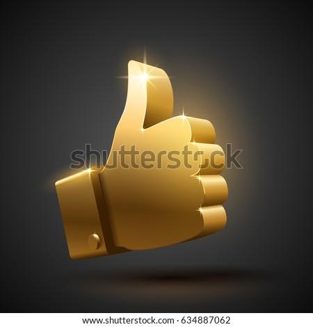 Big gold like sign