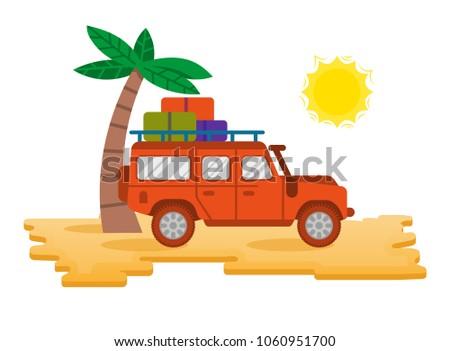big good orange safari car auto
