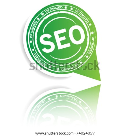 Big Green pointer with seo symbol