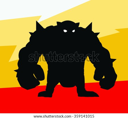 big grunge monster silhouette