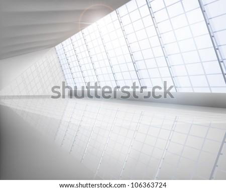 big hall vector illustration