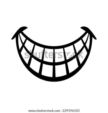 Big Happy Toothy Cartoon Smile vector icon