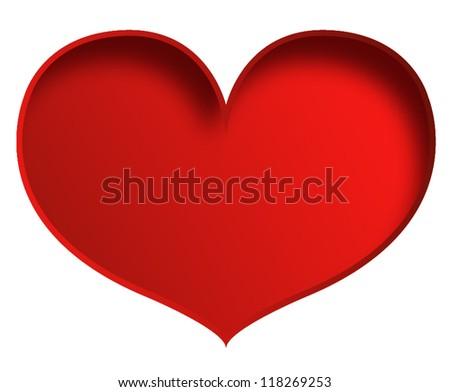 Big Red Valentine Heart Vector Download Free Vector Art Stock