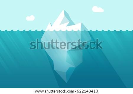 big iceberg floating on water