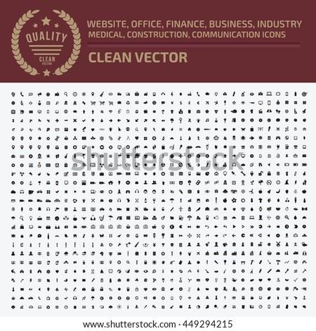 Big icon set,Business icon,web icon,medical icon,construction icon,communication icon,vector #449294215