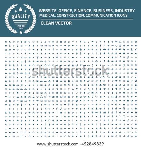 Big icon set,Business icon,web icon,medical icon,construction icon,communication icon,vector #452849839