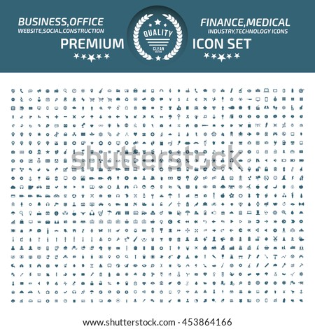 Big icon set,Business icon,web icon,medical icon,construction icon,communication icon,vector #453864166