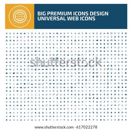 Big icon set,clean vector #617022278