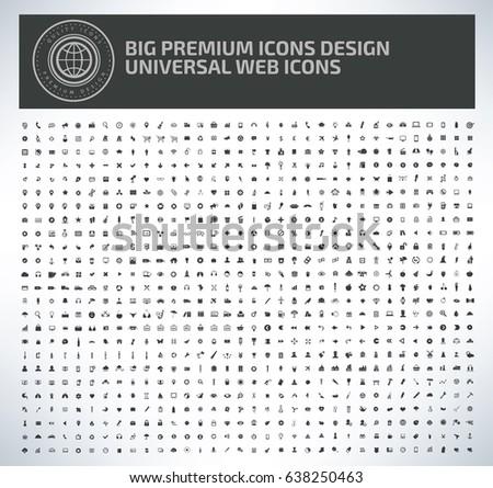 Big icon set design,clean vector #638250463