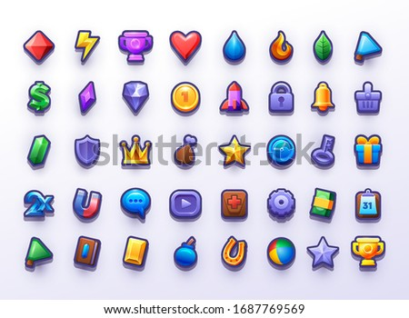 big icon set  for 2d game user