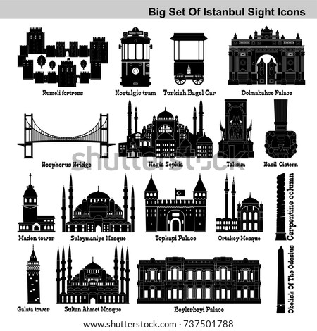 big icon set of istanbul's
