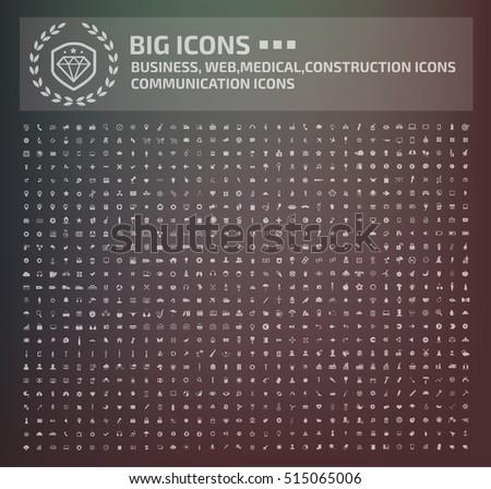 Big icon set,vector #515065006