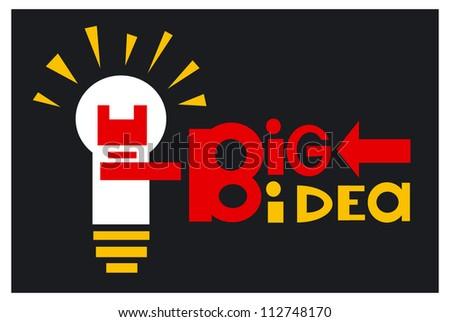 Big idea concept - stock vector