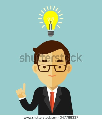 big idea concept with man and