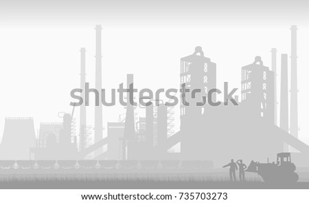 big industrial factory and