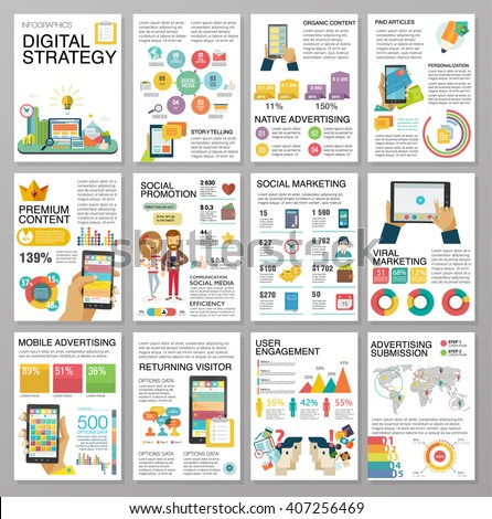 big infographics in flat style