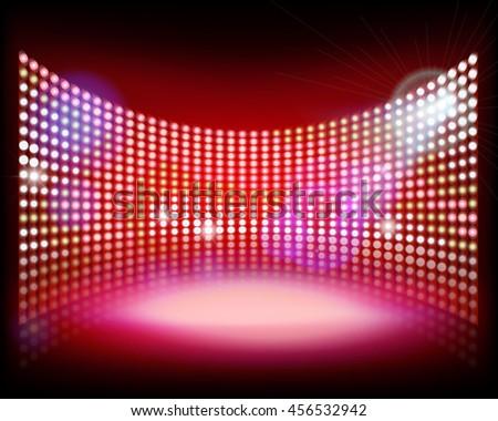 big led projection screen