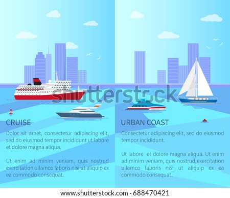 big liner and modern yacht for