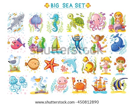 big marine set of vector