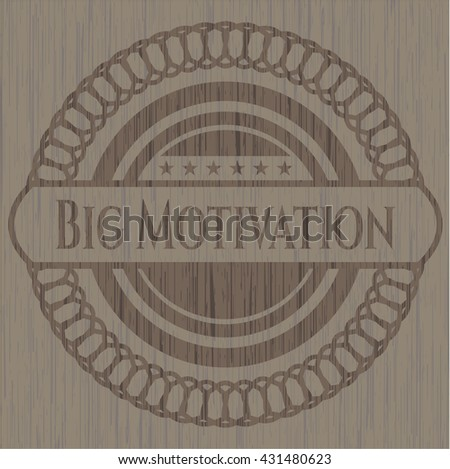 Big Motivation realistic wooden emblem