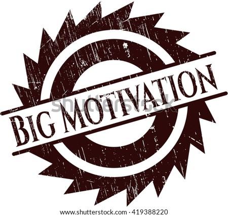 Big Motivation rubber stamp