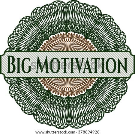 Big Motivation written inside abstract linear rosette