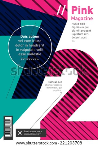 Big numbers brochure, book and magazine cover design