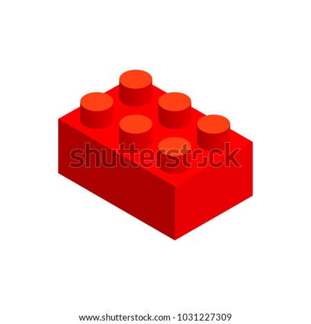 big piece building block in 3d