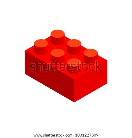 big piece building block in 3d
