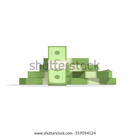 big pile of money vector