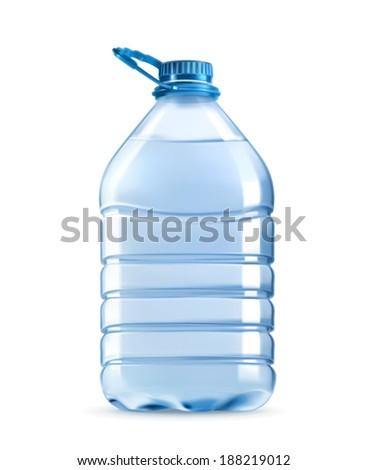 big plastic bottle of potable