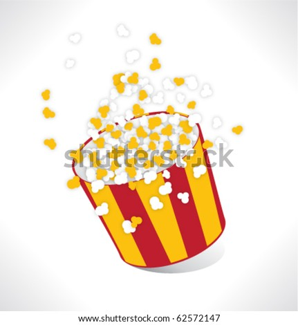 Big Popcorn - stock vector