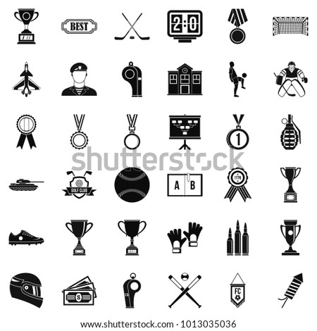 Big premium icons set. Simple set of 36 big premium vector icons for web isolated on white background