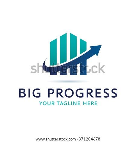 Big Progress Logo Icon Elements Template