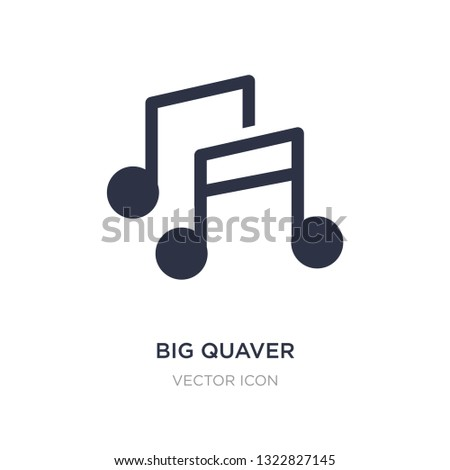 big quaver icon on white background. Simple element illustration from Party concept. big quaver sign icon symbol design.