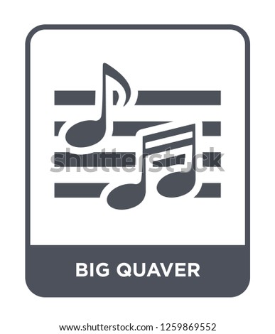 big quaver icon vector on white background, big quaver trendy filled icons from Party collection, big quaver simple element illustration